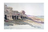 Rock Tombs, Beni Hassan, 10 March 1863, Egypt, 1863 Giclee Print by Charles Emile De Tournemine