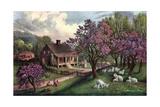 American Homestead in Spring  1869