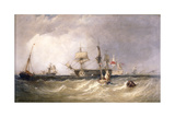Men-Of-War Off Portsmouth, Hampshire, 1855 Giclee Print by Clarkson Stanfield