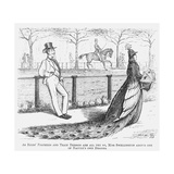 Miss Swellington Taking a Walk, 1867 Giclee Print by Edward Linley Sambourne