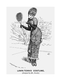 Lawn-Tennis Costume, 1879 Giclee Print by Edward Linley Sambourne