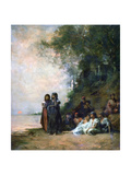 Egyptian Women at the Edge of the Water, 19th Century Giclee Print by Eugene Fromentin