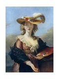 Self Portrait in a Straw Hat, C1782 Impression giclée par Elisabeth Louise Vigee-LeBrun