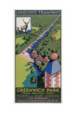 Greenwich Park, London County Council (LC) Tramways Poster, 1932 Giclee Print by F Marsden Lea