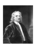 Isaac Newton, English Mathematician, Astronomer and Physicist Giclee Print by E Scriven