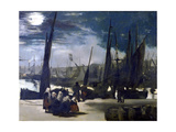 Moonlight over the Port of Boulogne, 1869 Giclee Print by Edouard Manet