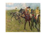 Horses with Jockeys, 1910 Giclee Print by Edgar Degas