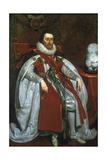 James I, King of England and Scotland, 1621 Lámina giclée por Daniel Mytens