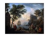 Coastal Harbour. Calm, C1763 Giclée-Druck von Claude-Joseph Vernet