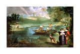 Fishing at St Ouen, 1860-1861 Giclee Print by Edouard Manet