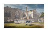 Leathersellers' Hall, and the Church of St Helen, Bishopsgate, City of London, 1792 Giclee Print by Edward Dayes