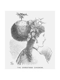 The Christmas Chignon, 1867 Giclee Print by Edward Linley Sambourne