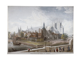 View of Westminster Hall and Abbey, from Westminster Bridge, London, 1819 Giclee Print by Daniel Havell