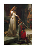 The Accolade, 1901 Giclée-Druck von Edmund Blair Leighton