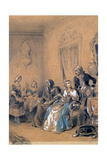 Indoor Scene, C1815-1865 Giclee Print by Eugene Deveria