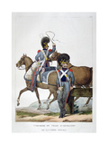 Uniform of a Regiment of Horse Artillery Train of the Royal Guard, France, 1823 Giclee Print by Charles Etienne Pierre Motte