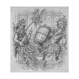Gog and Magog with a Barrel, 1840 Giclee Print by Ebenezer Landells