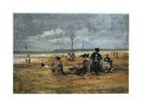 On the Beach, 1880 Giclee Print by Eugene Louis Boudin