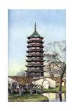 Beisi Pagoda, Suzhou, Jiangsu Province, China, C1924 Giclee Print by Ernest Peterffy