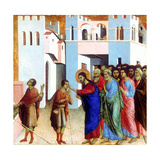 Jesus Opens the Eyes of the Man Born Blind, 1311 Giclee Print by Duccio di Buoninsegna