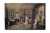 Drawing Room in the Baryatinsky House in Altona, 1807 Giclée-Druck von Elisabeth Louise Vigee-LeBrun