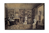 Drawing Room in the Baryatinsky House in Altona, 1807 Giclee Print by Elisabeth Louise Vigee-LeBrun