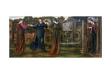 The Mill, Girls Dancing to Music by a River, 1870 Giclee Print by Edward Coley Burne-Jones