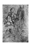 Sketches for a 'Holy Family, by Allegri Da Correggio, 1913 Giclee Print by  Correggio