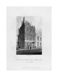 The Residence of Sir Isaac Newton, St Martin's Street, Leicester Square, 1840 Giclee Print by CJ Smith