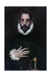 A Nobleman with His Hand on His Chest, C1577-1584 Giclee Print by  El Greco
