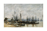 The Harbour of Bordeaux, 1874 Giclee Print by Eugene Louis Boudin