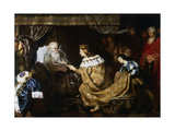 David Presenting the Sceptre to Solomon, Early 17th Century Giclee Print by Cornelis de Vos