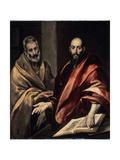 The Apostles St. Peter and St. Paul, 1587-1592 Giclée-tryk af  El Greco
