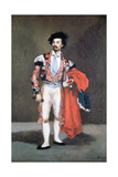 The Dancer, Mariano Camprubi, 1862 Giclee Print by Edouard Manet