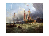 Oude Schelde, Texel Island, 1862 Giclee Print by Clarkson Stanfield