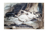 Odalisque Couchee, C1815-1865 Giclee Print by Eugene Deveria