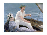 Boating, 1874 Giclee Print by Edouard Manet