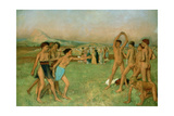Young Spartans Exercising, C1860 Giclee Print by Edgar Degas