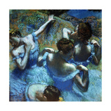 Dancers in Blue, C1898 Giclee Print by Edgar Degas