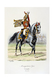 Mousquetaires Gris, Trumpeter, 1814-15 Giclee Print by Eugene Titeux