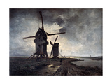Windmills of the Surrounding Landscape of Lille, 1877 Giclee Print by Emmanuel Lansyer