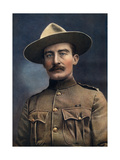 Colonel Baden-Powell, Lieutenant-General in the British Army, 1902 Giclee Print by Elliott & Fry