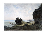 A Beautiful Morning at the Coast of Brittany, 1882 Giclee Print by Emmanuel Lansyer