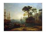 Arrival of Aeneas in Italy, Morning of the Roman Empire, C.1620-1680 Giclee Print by Claude Lorrain