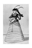 A Woman Playing a Stringed Instrument, Early 17th Century Giclee Print by Daniel Rebel