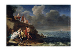 Bacchus and Ariadne on the Island of Naxos, 17th Century Giclee Print by Cornelis van Poelenburgh