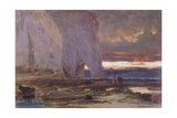 Beach and Cliffs, 19th Century Giclee Print by Edwin Ellis