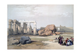 Fragments of the Great Colossi, at the Memnonium, 19th Century Giclée-tryk af David Roberts
