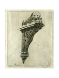 Sign of the Red Lion Inn, Glastonbury, Somerset, 1881 Giclee Print by Edwin Edwards