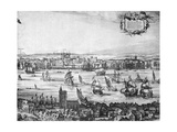 Panorama of London, 1616 Giclee Print by Claes Jansz Visscher